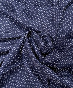 Printed Blue Color Cotton Voile Dress Material Fabrics