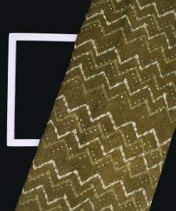 Zig Zag Print On Corduroy Fabric 8478