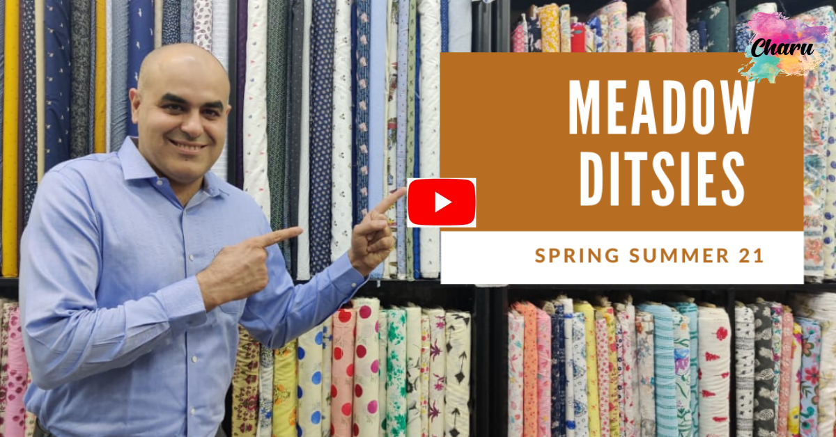 meadow ditsy fabrics by charu creation
