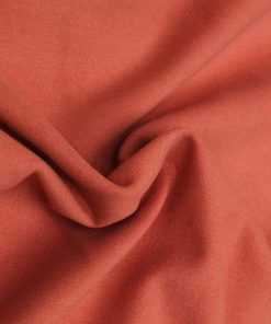Mandarin Orange colour felt wool dress material