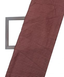 Maroon Color Cotton Tussar Dress Material Fabric