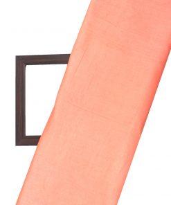 Orange colour cotton silk dress material fabric