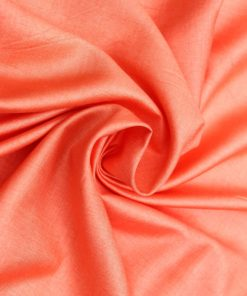 Orange colour cotton silk dress material fabric