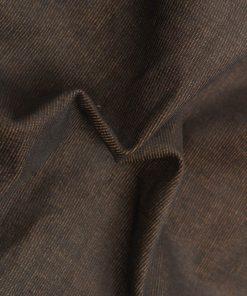 Brown colour print design on corduroy Lycra dress material fabric