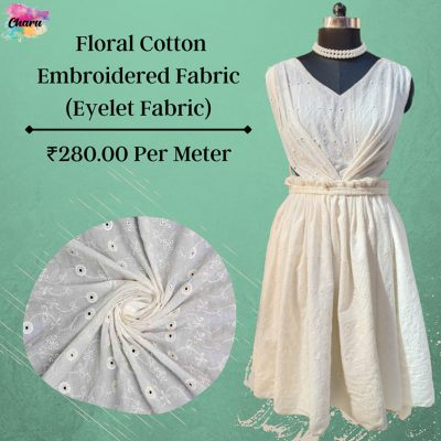 Cotton Embroidered Fabric (Eyelet Fabric)