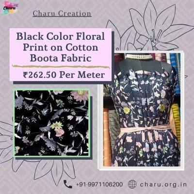 Cotton Boota Dress Material Fabric