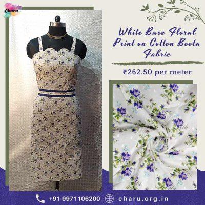 Cotton Boota Dress Material Fabric/ Draping Video