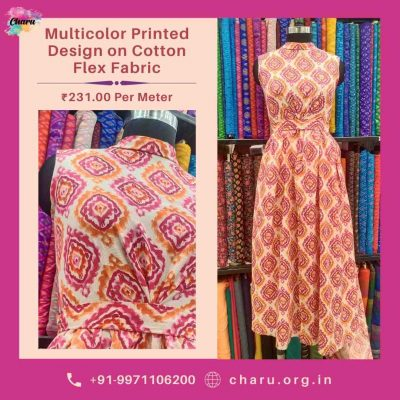 Cotton Flex Fabric Draping| Best Fabric For Summer