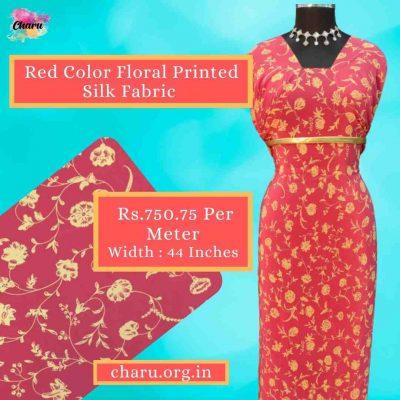 Beautiful Printed Silk Fabric Draping | Make Party Wear & Wedding Dresses